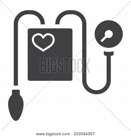 Tonometer glyph icon, medicine and healthcare, Blood Pressure sign vector graphics, a solid pattern on a white background, eps 10.