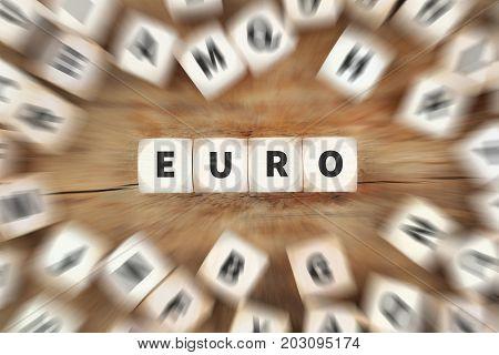 Euro Currency Money Eu Europe Financial Dice Business Concept