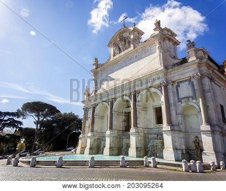 Fontana dell'Acqua Paola also known as Il Fontanone (