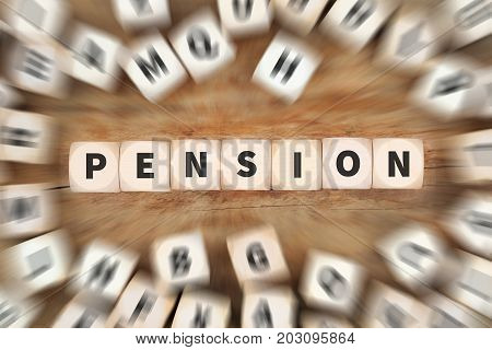 Pension Retirement Retire Work Working Dice Business Concept