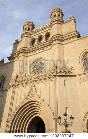 Cathedral in the city of Castellon Valencian Community Spain.