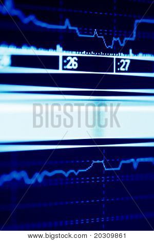 Stock index dynamics on the monitor.