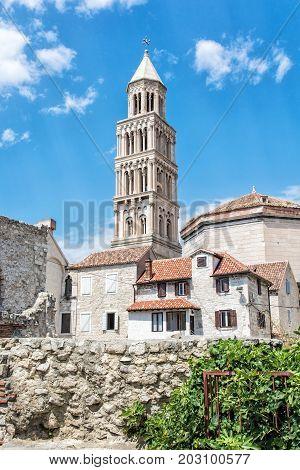 Cathedral of Saint Domnius in Split Croatia. Religious architecture. Travel destination.