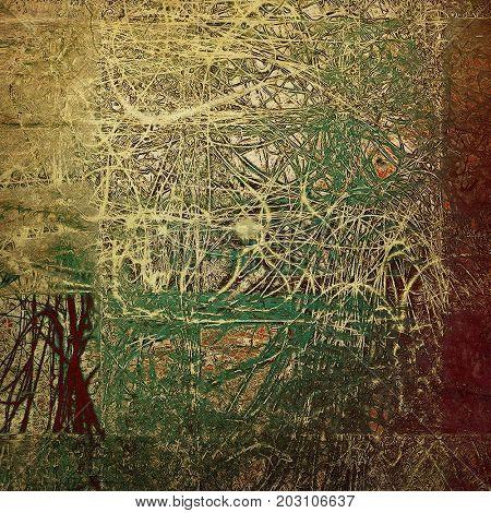 Elegant vintage background, grunge design template. Ancient texture with different color patterns