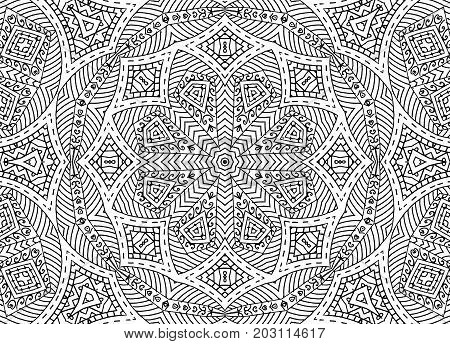 Graphics with black and white abstract concentric outline pattern