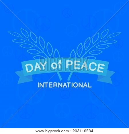 International peace day typography. Greeting card. Vector logo design.