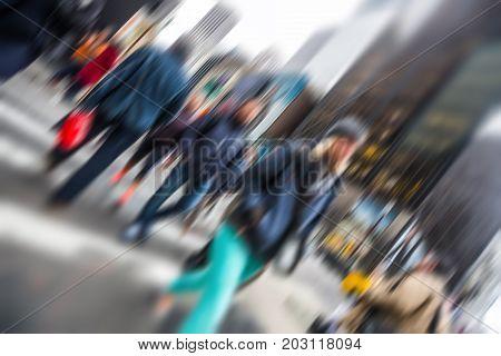 Manhattan Street Scene.
