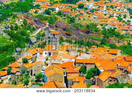 Monsanto Village Aerial View. Portugal
