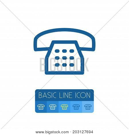 Call Vector Element Can Be Used For Call, Phone, Dial Design Concept.  Isolated Dial Outline.