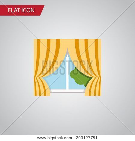 Glass Frame Vector Element Can Be Used For Curtain, Glass, Frame Design Concept.  Isolated Curtain Flat Icon.