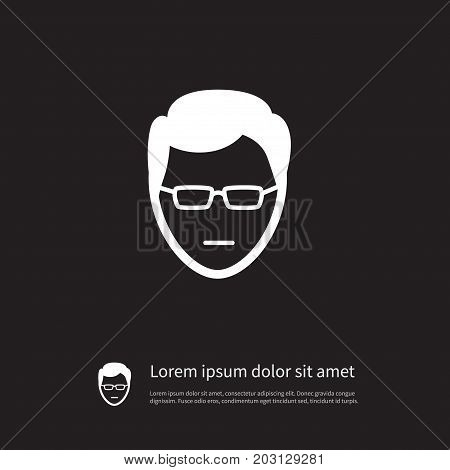Anonymous Vector Element Can Be Used For Anonymous, Sunglasses, Human Design Concept.  Isolated Sunglasses Icon.
