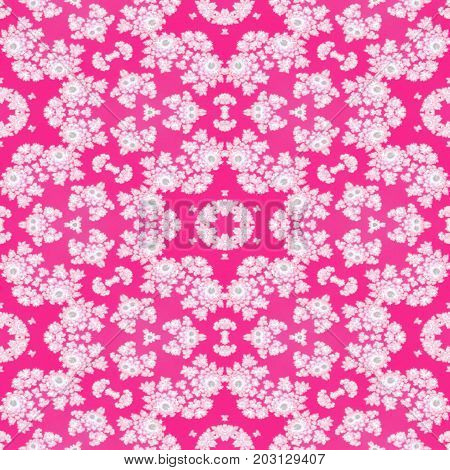 Bright pink lacy lace seamless femine dreamy girly pattern