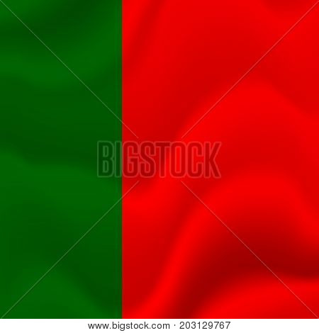 Portugal waving flag. Waving flag. Vector illustration.