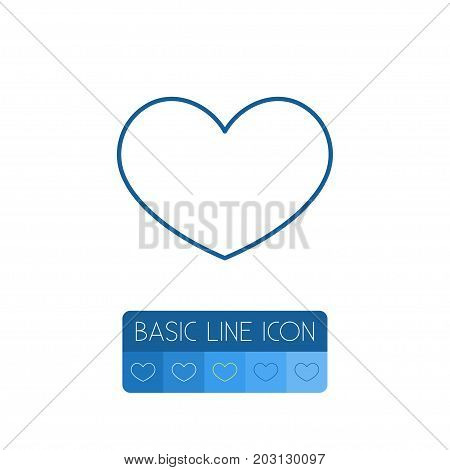 Heart Vector Element Can Be Used For Heart, Favorite, Lover Design Concept.  Isolated Favorite Outline.