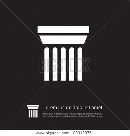 Ornate Vector Element Can Be Used For Sculpture, Ornate, Pedestal Design Concept.  Isolated Sculpture Icon.