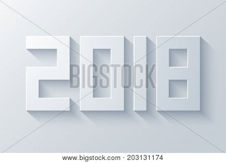 vector modern 2018 happy new year background