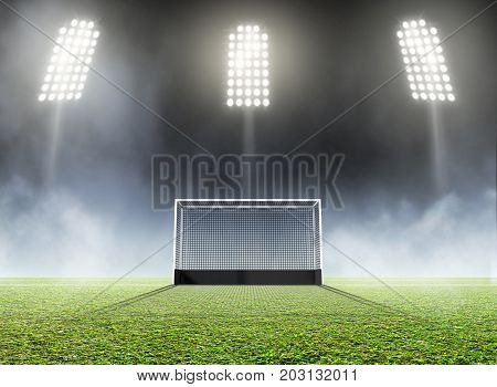 Sports Stadium And Hockey Goals