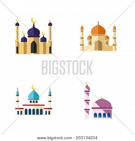 Flat Icon Minaret Set Of Building, Islam, Religion And Other Vector Objects