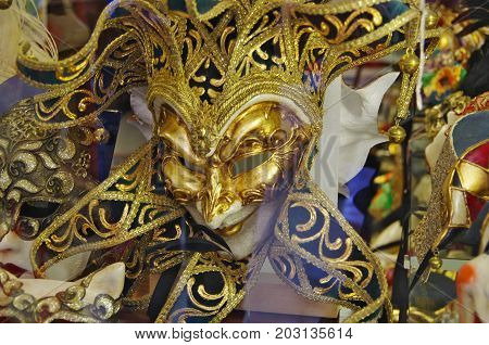 Typical Masks Of The Venice Carnival