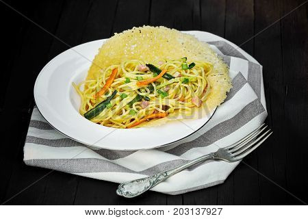 Plate With Spaghetti