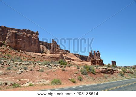 Despite being desert Utah has some beautiful landscape in and around Arches national park
