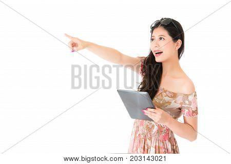 Cheerful Pretty Lady Wearing Summer Clothing