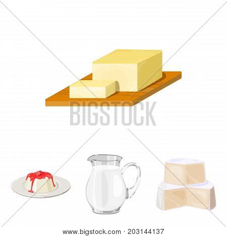 Milk, Calcium, Product, Food .Milk product and sweet set collection icons in cartoon style vector symbol stock illustration .
