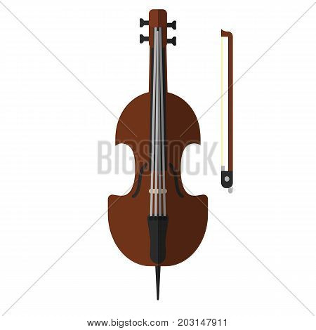 Cello musical instrument flat icon, vector sign, colorful pictogram isolated on white. Symbol, logo illustration. Flat style design