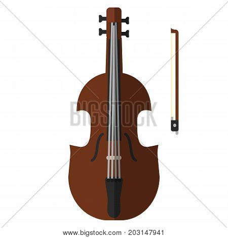 Double bass musical instrument flat icon, vector sign, colorful pictogram isolated on white. Symbol, logo illustration. Flat style design