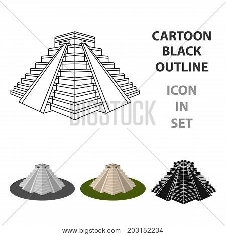 Chichen Itza icon in cartoon design isolated on white background. Countries symbol vector illustration.