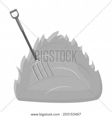 Hay single icon in monochrome style .Hay vector symbol stock illustration .