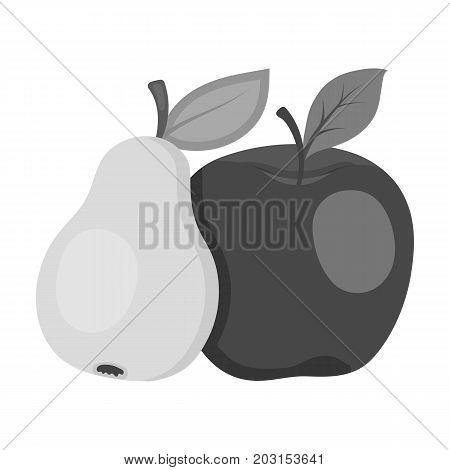 Fruit single icon in monochrome style .Fruit, vector symbol stock illustration .