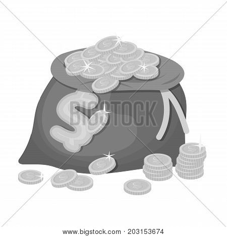 Sack, single icon in monochrome style.Sack, vector symbol stock illustration .