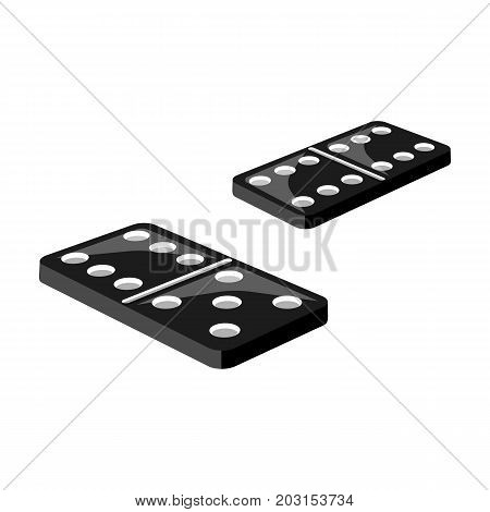 Game, single icon in monochrome style.Game, vector symbol stock illustration .