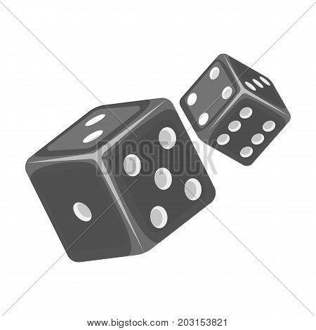Game single icon in monochrome style.Game, vector symbol stock illustration .