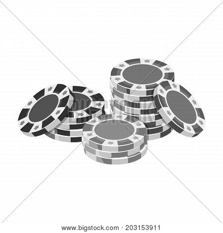Chip, single icon in monochrome style.Chip, vector symbol stock illustration .