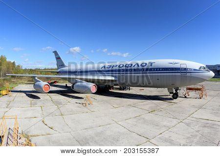 Sheremetyevo, Moscow Region, Russia - October 3, 2015: Aeroflot Ilyushin IL-86 RA-86103 at Sheremetyevo international airport.