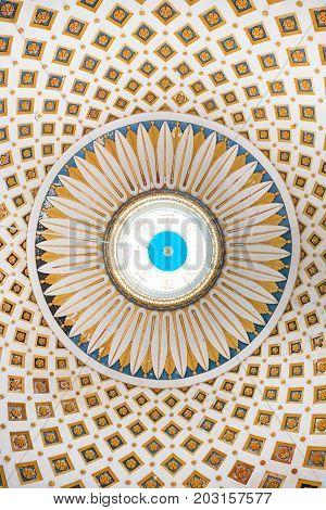 Interior Detail Of The Dome Of The Rotunda Of Mosta, Malta