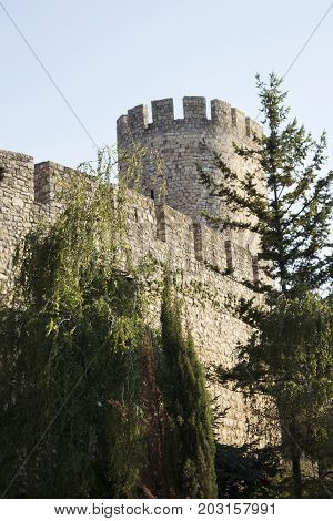 Fortress Of Kalemegdan Tower In Belgrade, Serbia