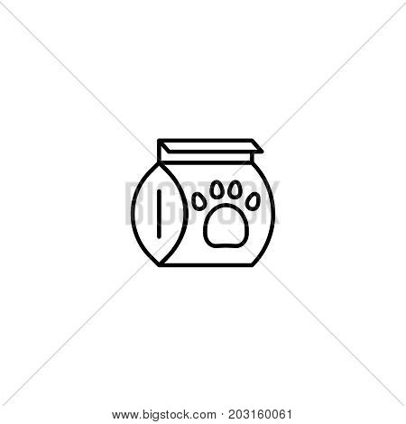 Dog food flat icon. Single high quality symbol of line pet vector for web design or mobile app. Color sign of food for design logo. Single pictogram on white background