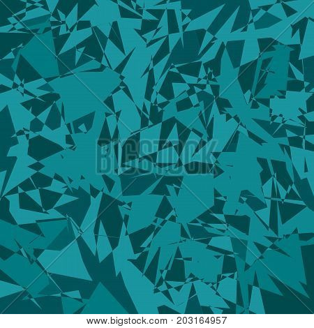 Abstract turquoise background from many fragments and pieces. Vector illustration.