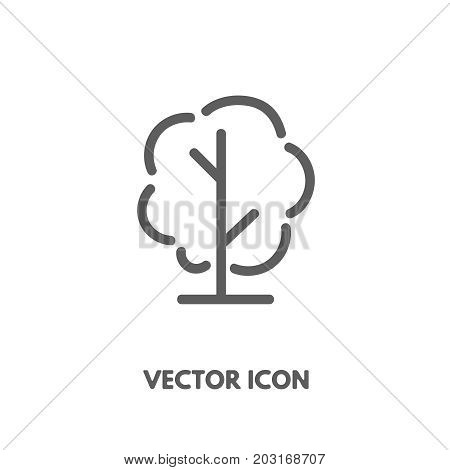 Vector doodle tree icon. Stock line symbol for design.