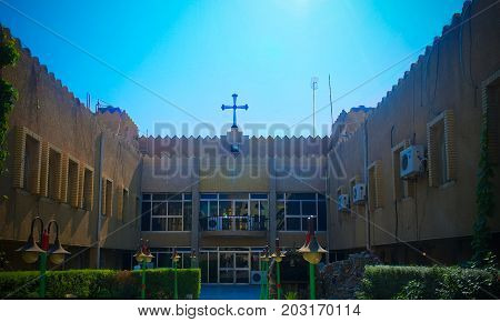 Exterior view to Assyrian Church in Baghdad, Iraq