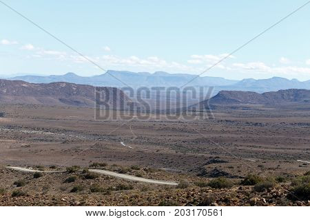 The Road Through The Mountains Of The Central Karoo