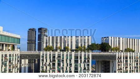 The Pinnacle Duxton, It Is A Group Of Tall Buildings For Living. (the Worlds Tallest Public Housing