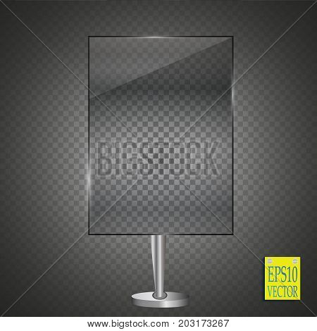 Vector billboard for your text, isolated on a transparent background. Advertising