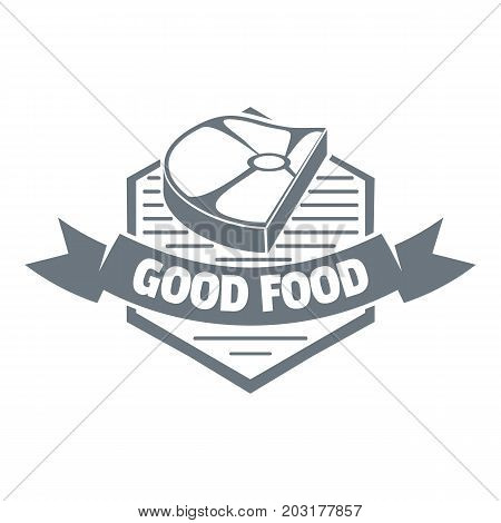 Meat good food logo. Simple illustration of meat good food vector logo for web design isolated on white background