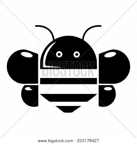 Bee icon . Simple illustration of bee vector icon for web design isolated on white background