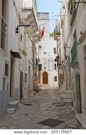 Characteristic alleyway of Putignano. Puglia. Southern Italy.