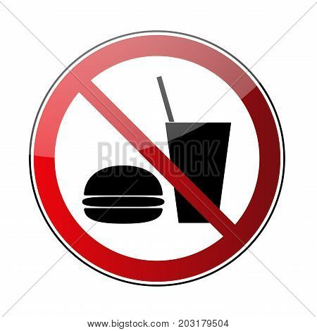 No Food No Drink Sign